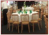 hire wooden table and chairs